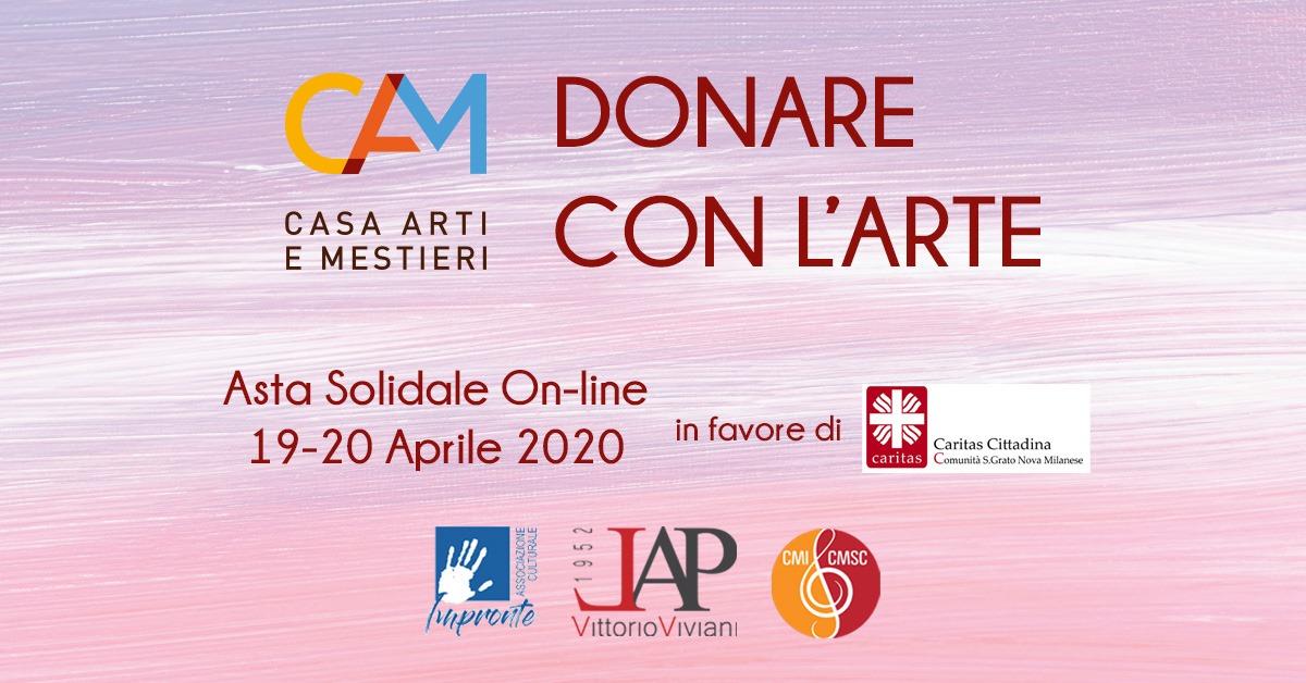 Donare con l'arte! Asta solidale on-line 19 e 20 aprile 2020